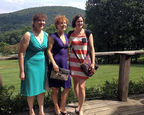 Julie, Kirstin and Pam on the deck at Linden Vineyards