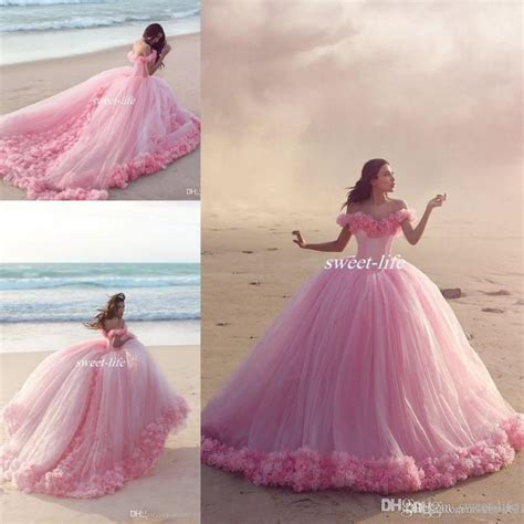 Puffy 2016 Pink Quinceanera Dress Princess Cinderella