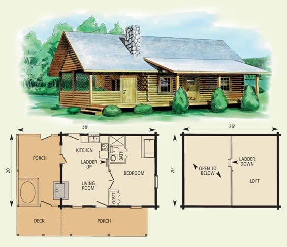 12 X 20 Cabin Floor Plans Images Homedesignpictures
