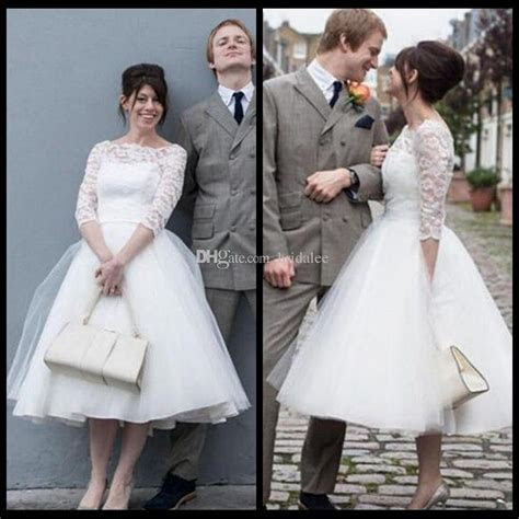 Discount Simple Ivory Short Wedding Dresses 2017 Elegant