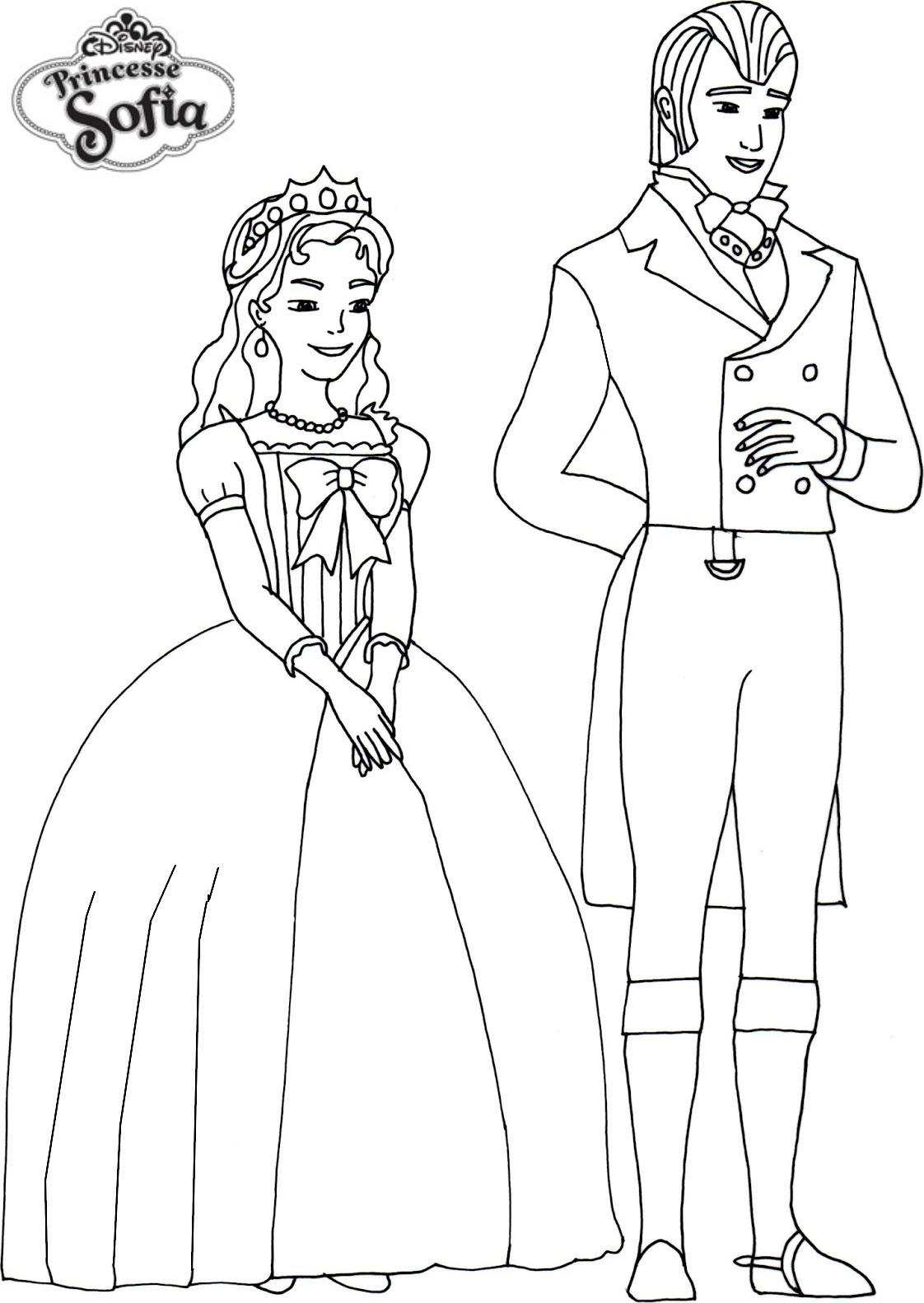 coloriage princesse sofia roi et reine