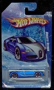 Amazon.com: Hot Wheels 2010/160 BLUE Bugatti Veyron Hot Auction SNOW SCENE CARD 1:64 Scale: Toys ...