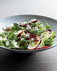 Escarole Salad with Apples, Blue Cheese and Pecans