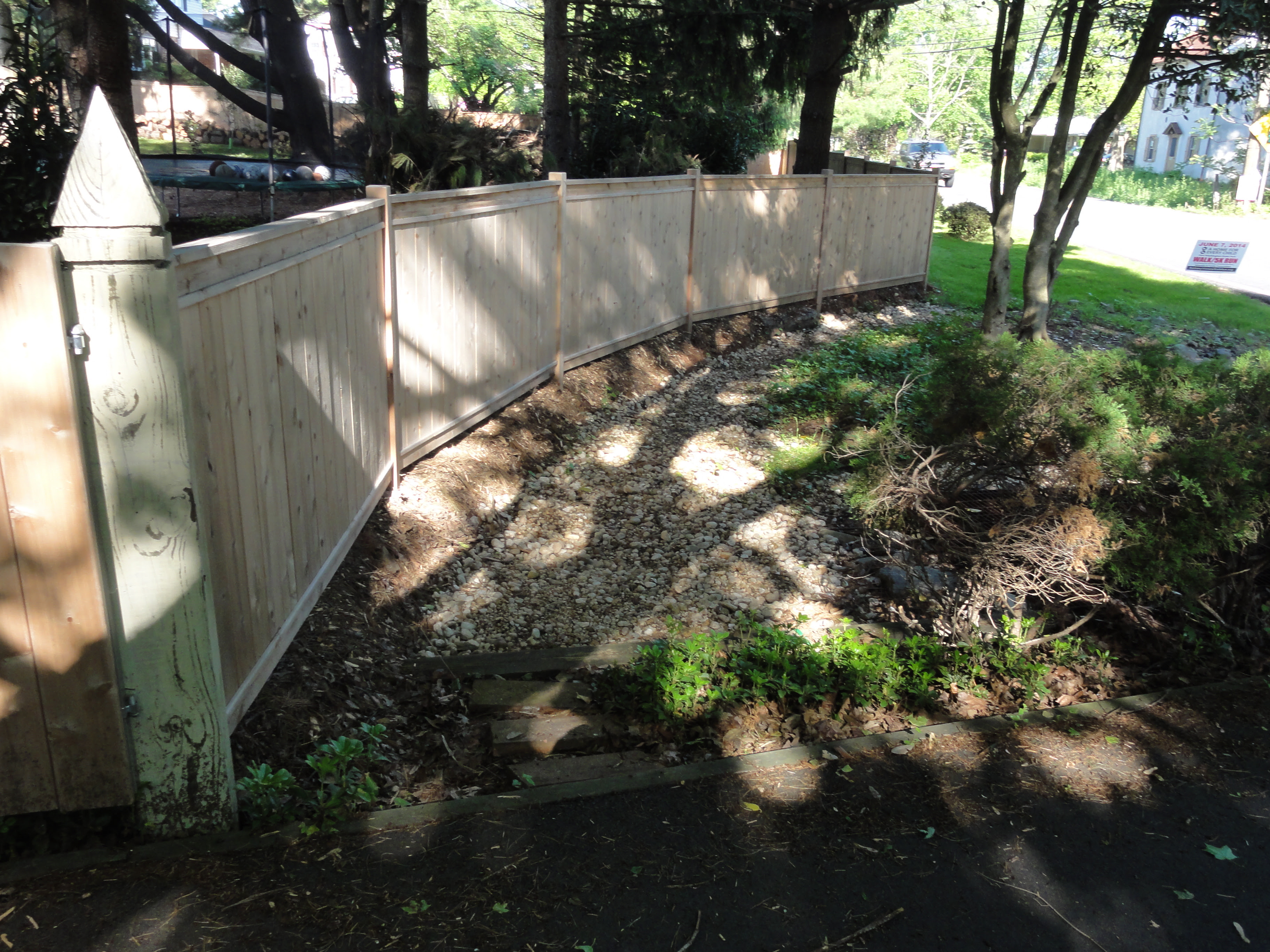 How to Build a Fence DIY Custom Cedar Privacy Fence Lehman Lane