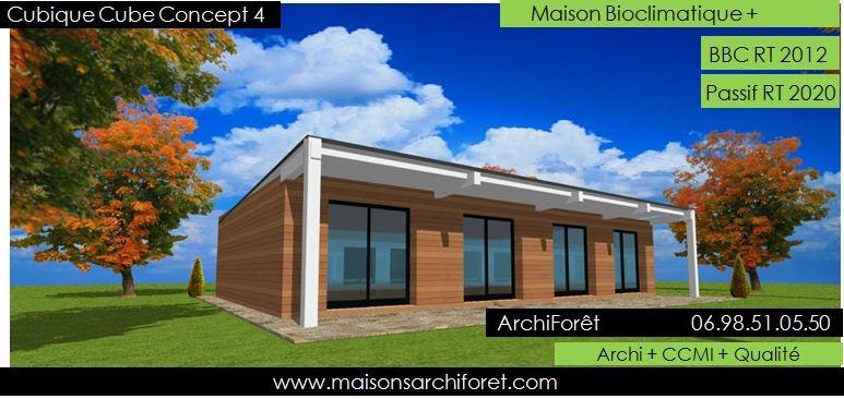 une maison confortable pour vous plan maison cube plein pied. Black Bedroom Furniture Sets. Home Design Ideas