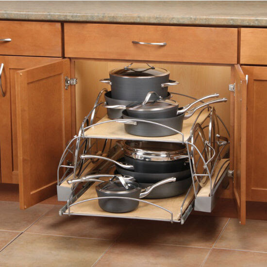 Slide-Out Pot and Pan Caddy for Kitchen Base Cabinetr by ...
