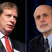 The financier Stanley Druckenmiller, left, said that Ben Bernanke, chairman of the Federal Reserve, is