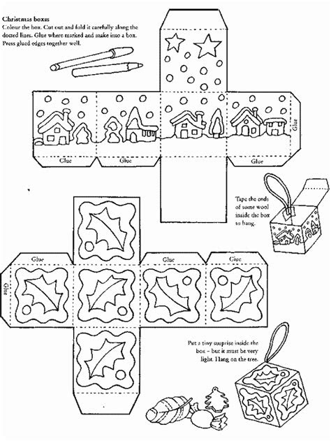 Coloring Christmas Boxes - Coloring Home