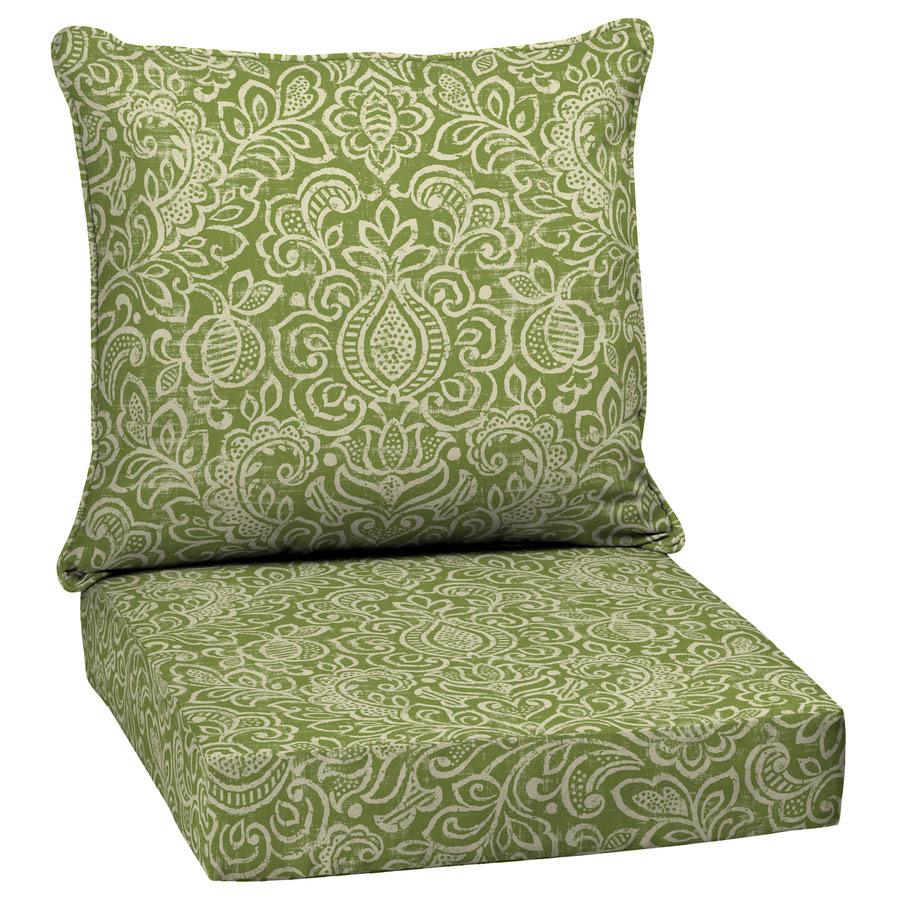 Shop Garden Treasures Green Stencil Deep Seat Patio Chair ...