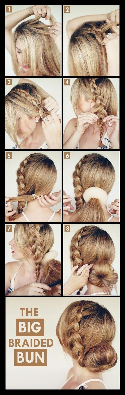 Make A Big Braided Bun For Your Self | hairstyles tutorial
