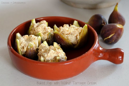 Baked Figs with Walnut Tarragon Cream 2