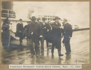 President Roosevelt visits Ell... Digital ID: 1693104. New York Public Library