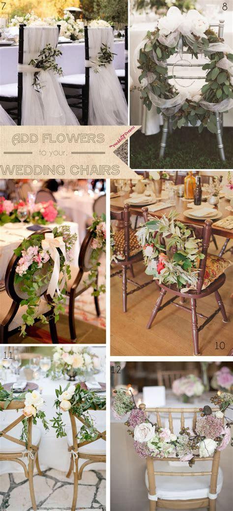 Beautiful Chair Decorations Wedding Ideas   UK Wedding