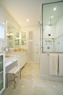 Amagansett Beach Retreat contemporary bathroom