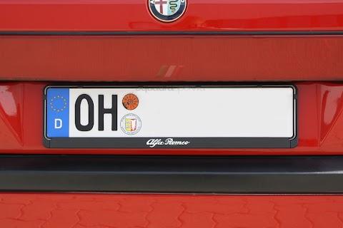 Alfa Romeo License Plate Frame