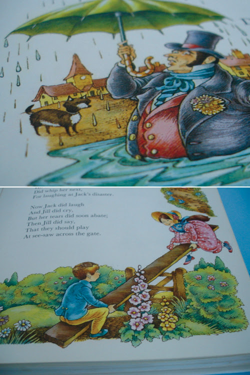 A Treasury of Mother Goose - Illustrated by Hilda Offen, Vintage Illustration