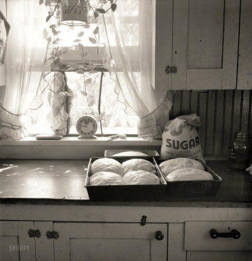 Seven Loaves: 1939  Yakima Valley, Washington kitchen.  (photo by Dorothea Lange)