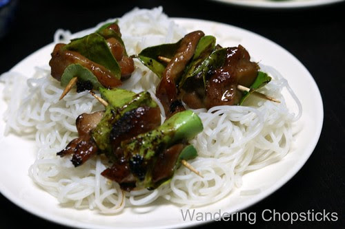Ga Nuong La Chanh (Vietnamese Grilled Chicken in Kaffir Lime Leaves) 14