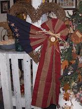 Heart Flag Wreath