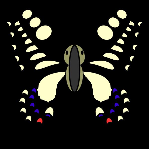 かわいいアゲハ蝶の無料イラスト 商用フリー オイデ43