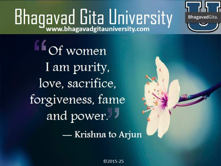 Bhagavad Gita Summary Are Women An Obstacles To Men In The Path Of