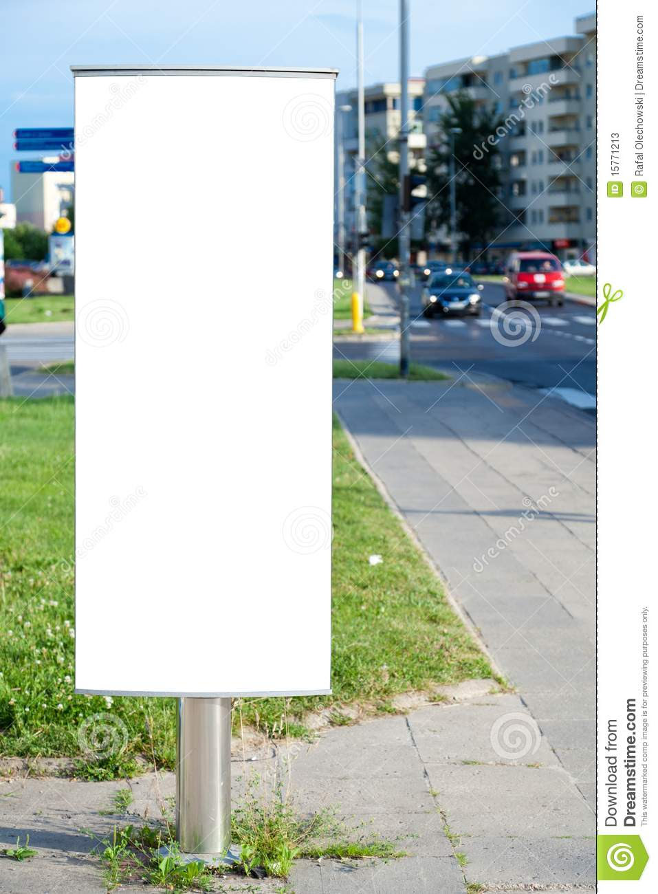 Blank Billboard In A City Stock Photos - Image: 15771213