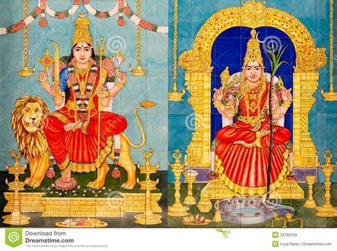 Traditional Hindu Gods Painted Images Royalty Free Stock