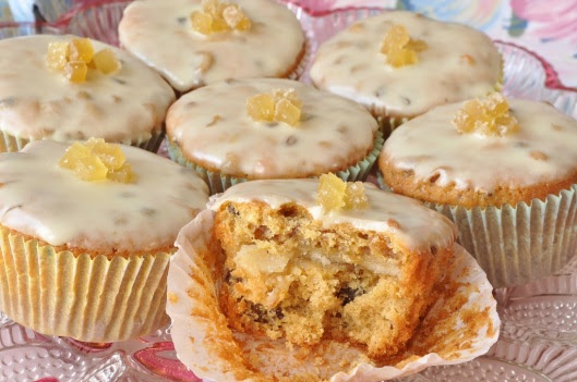 A Ginger Simnel Cupcake