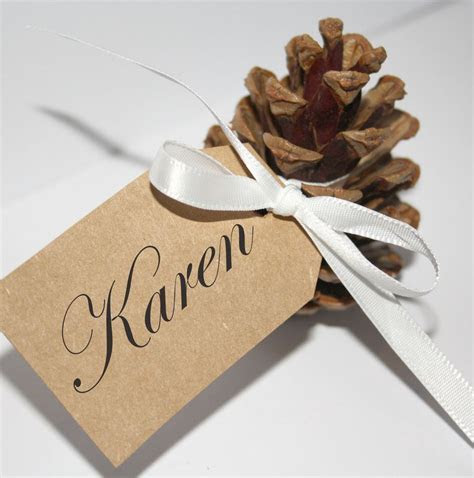 pine cone place card holders   Google Search   wedding