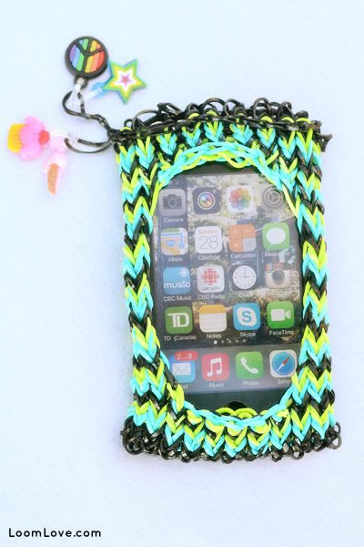 Rainbow Loom iPhone Case my friend made this