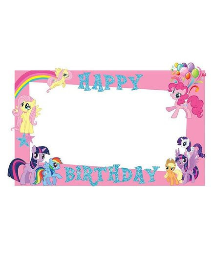 Party Propz My Little Pony Themed Photo Booth Frame Pink Online In