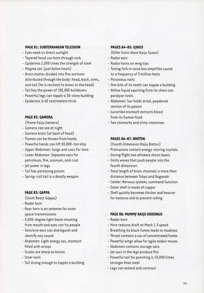 "Shoji Ohtomo - ""Kaiju Zukan"" (Monster Picture Book) Glossary"