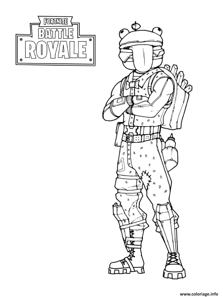 Coloriage Fortnite Frog Skin Jecoloriecom
