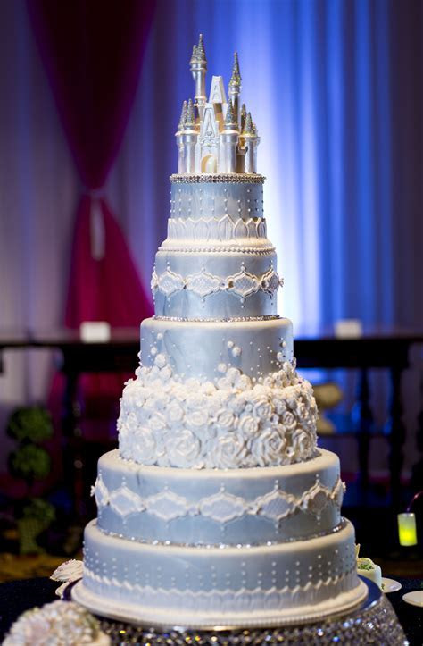 This Cinderella Castle wedding cake will command attention