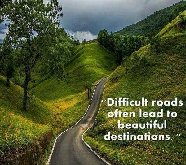 [Photo of a road with words superimposed]