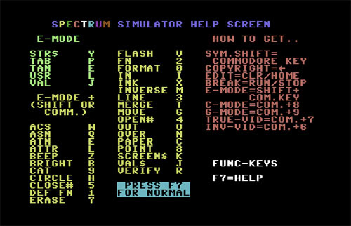 Emulador spectrum para Commodore (2)