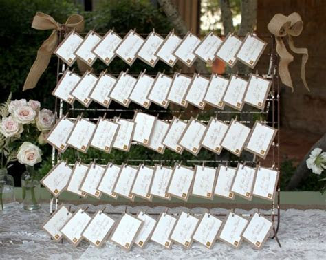 Rustic Wedding Place Card Display Ideas   Rustic Wedding Chic