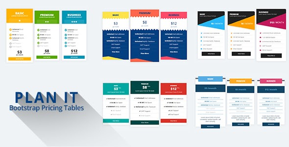 CodeCanyon - PLAN IT - Bootstrap Pricing Tables