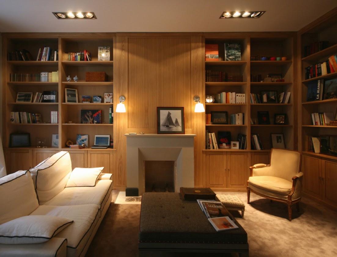 Arredo classico con libreria