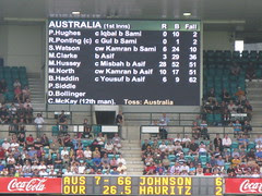 Aus doing badly