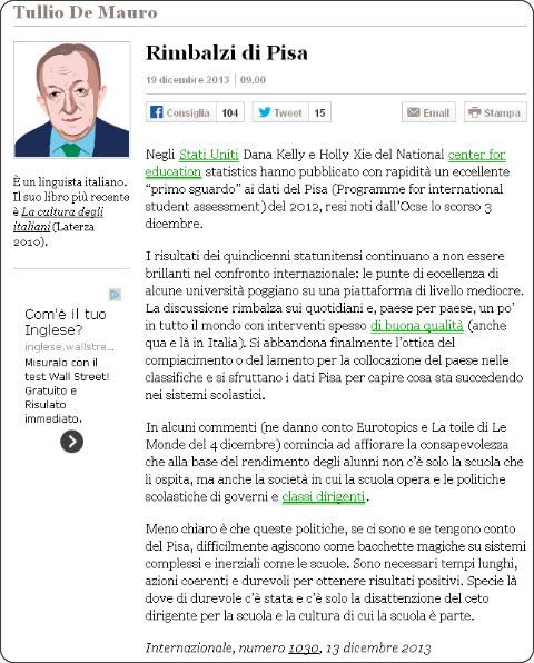 http://www.internazionale.it/opinioni/tullio-de-mauro/2013/12/19/rimbalzi-di-pisa/
