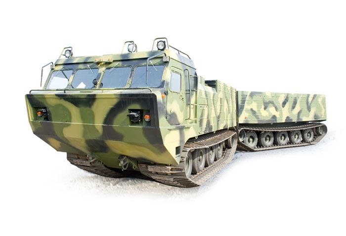 DT-10P en el terreno transportadores con juntas en vehículo oruga