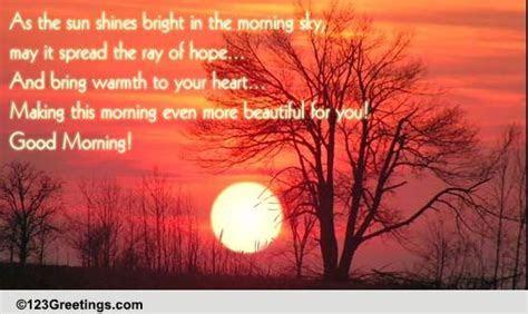 Sun Shining Bright In The Morning Sky! Free Good Morning