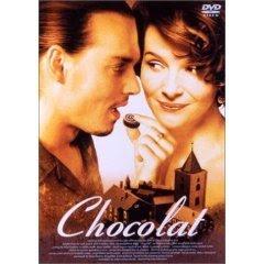 Chocolate 2000年 アメリカ映画 監督:ラッセ・ハルストレム。 主演:ジュリエット・ビノシュ, ジョニー・デップ