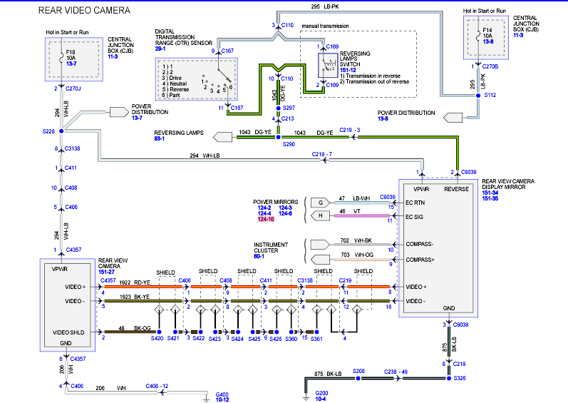 Toyota Prius Toyota Prius Reverse Camera Wiring Diagram