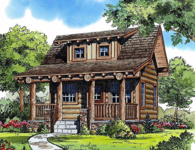 6 really cozy little log cabin floor plans