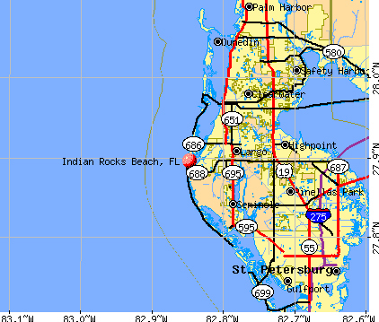 Indian Shores Florida Map Indian Beach Florida Map | Map Of Us Western States