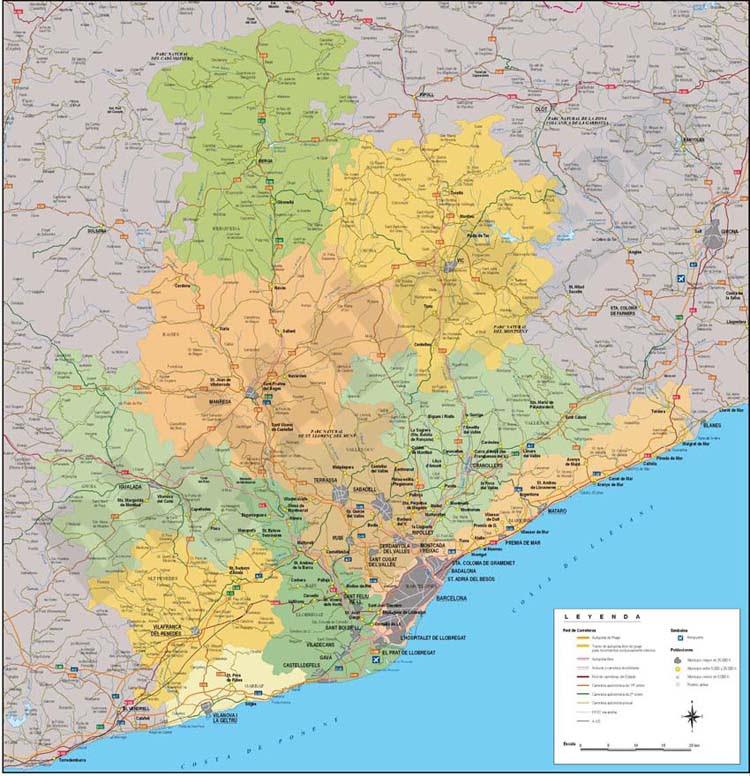 Mapa De Barcelona Provincia.Mapa De La Provincia De Barcelona Mapa