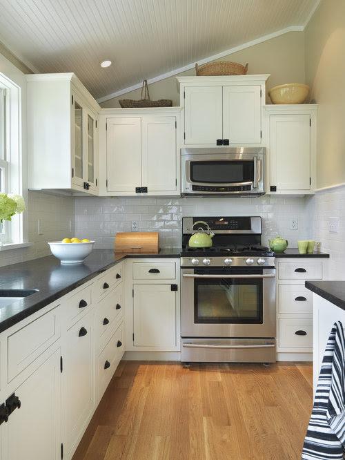 White Cabinets Black Countertop Home Design Ideas ...