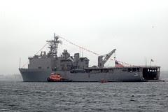 Navy Ship and Tug